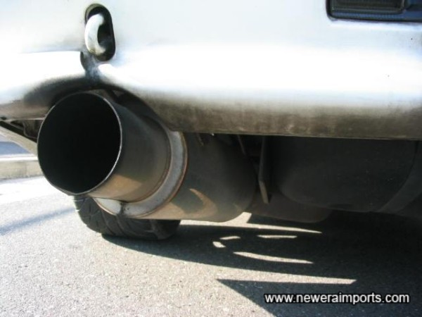 Apexi cat back exhaust.