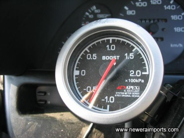 Apexi Boost Gauge - Mounted on Steering Column.