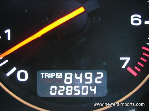 Odometer before conversion in the UK.