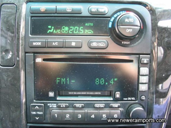 High Quality Audio with CD/MD/ Radio - factory fitted.