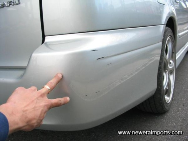 Small scratch  - To be fully repaired as part of UK preparation