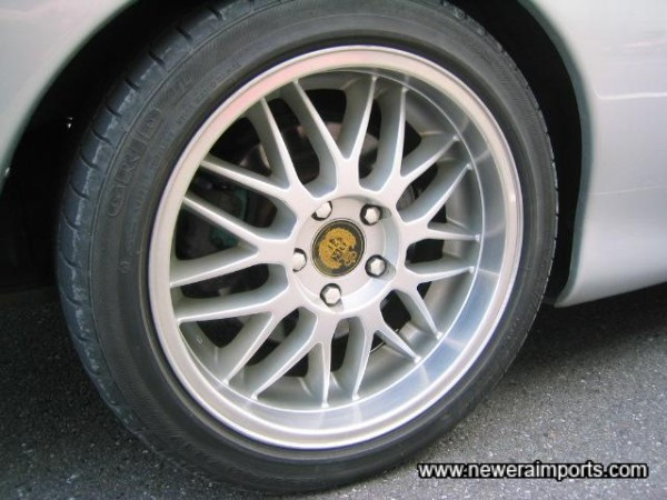 Grid II tyres on lightweight alloy wheels.