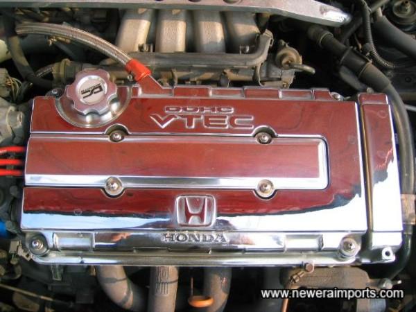 Chromed Engine cover.