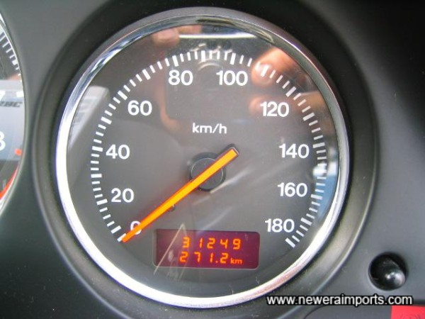 Original odometer reading before conversions in UK - to miles.