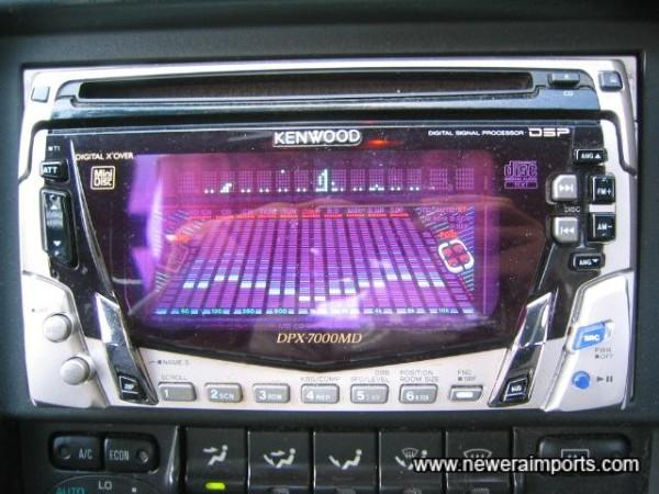 Kenwood CD, MD, Radio. 200W total power.