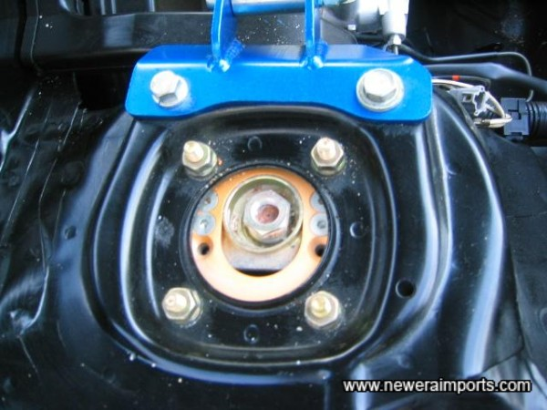 Adjustable top mounts - Camber is easily settable for enhanced handling on trackdays, etc.