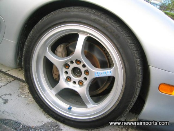 Gram Lights 17inch alloys, by RAYS.