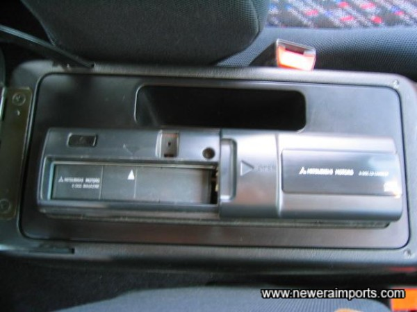 CD changer in central glovebox.