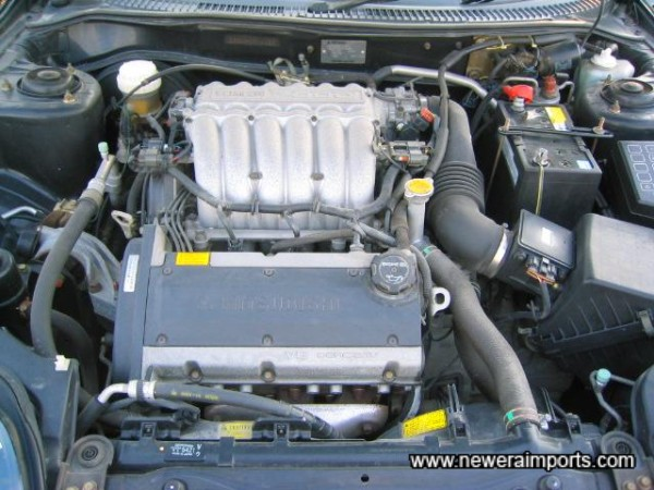 Engine Bay in clean original condition. No flaking paint, rust, etc.