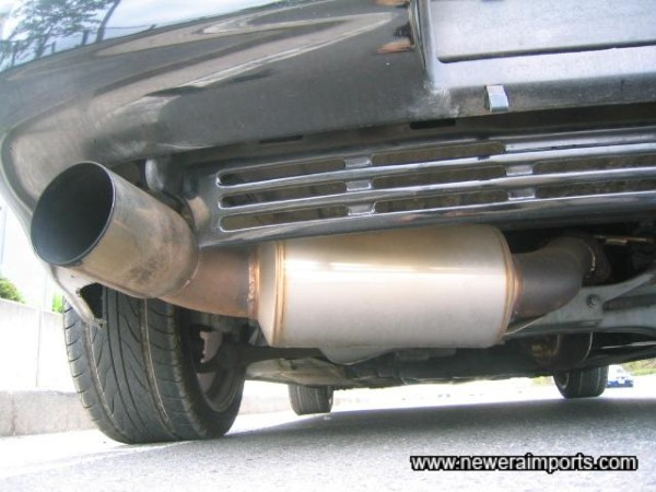 Exhaust is not very loud, yet it improves breathing considerably.