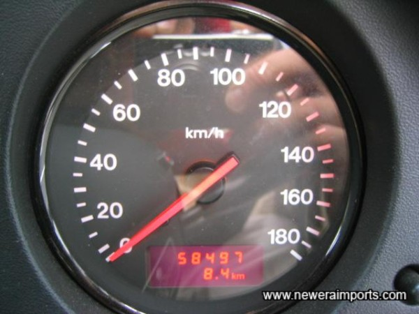 Original Odometer reading before conversion in the UK.