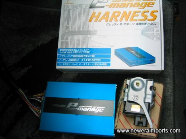 Wiring Harness included, for checking settings with owner's own software (Available in English).