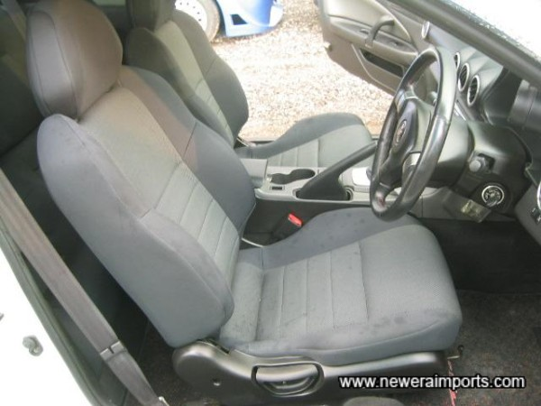 Unmarked interior - dark patches are water droplets, not stains!