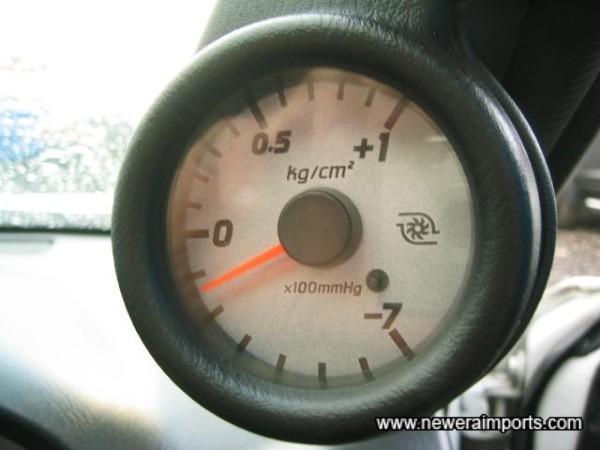 Original optional boost gauge.