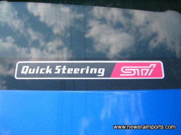 Sti Quick Steering Rack - Only available on JDM spec Imprezas!