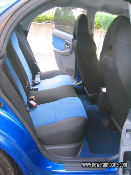 Matching rear seats