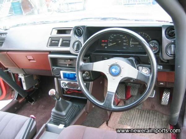 Momo steering wheel.