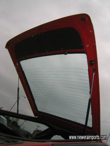 Fibreglass lightweight hatch - original glass fitted.