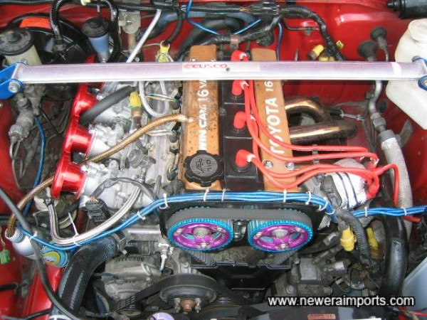 AE92 engine. AE101 throttle bodies, Uprated cams, exhaust, etc!!!