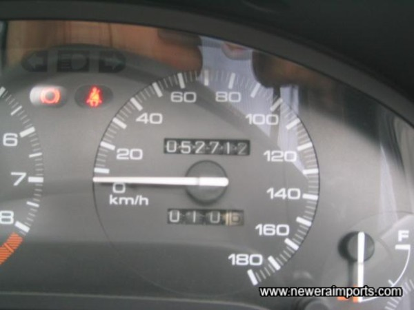 Original Odometer  Reading showing total kms. before conversion to miles in UK.