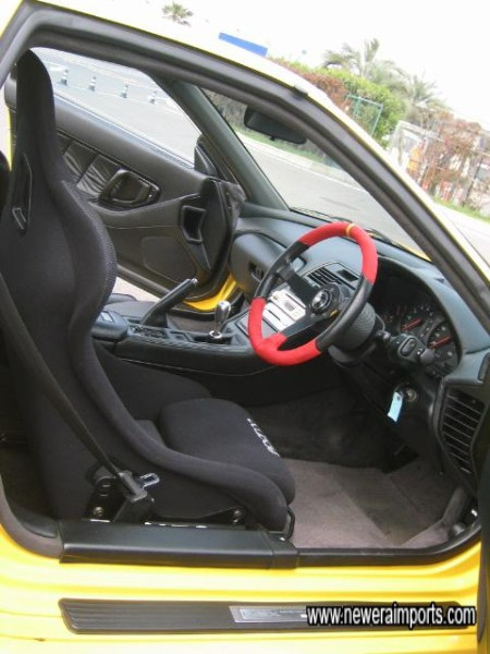 Sparco driver's seat is supportive and comfortable.