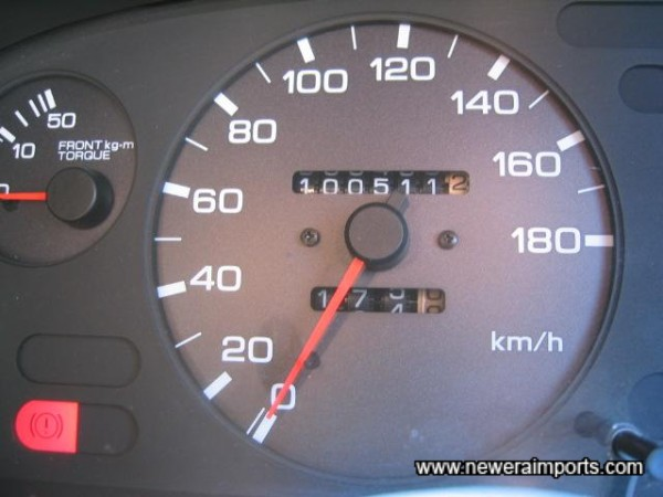Original odometer reading before conversion to miles in UK.