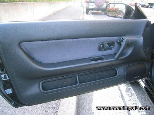 Door panels are clean and unmarked.