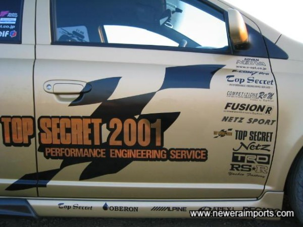 Top Secret 2001 is the name given to one of the 3 garages operated by Top Secret.