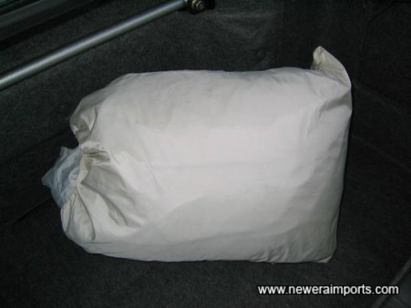Car cover inside this bag.
