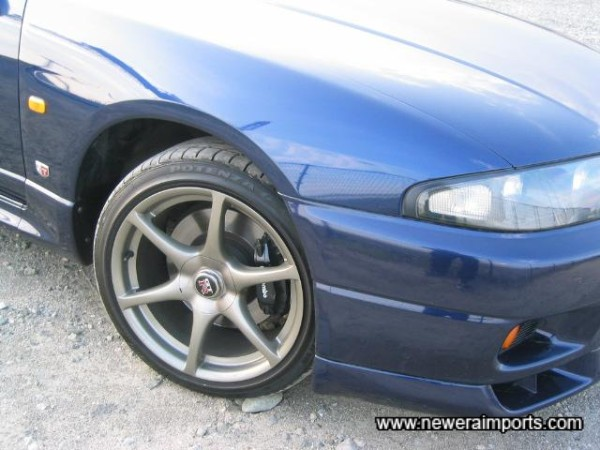 Unmarked original R34 GT-R 18'' alloys! Tyres like new too.