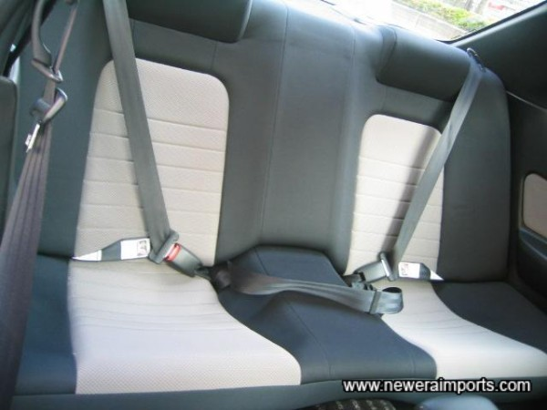 Rear seats also in perfect condition.