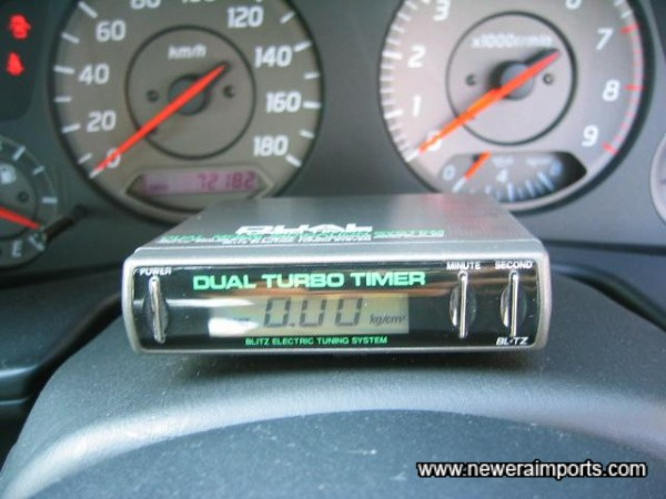 Dual Auto turbo timer - also shows turbo boost.