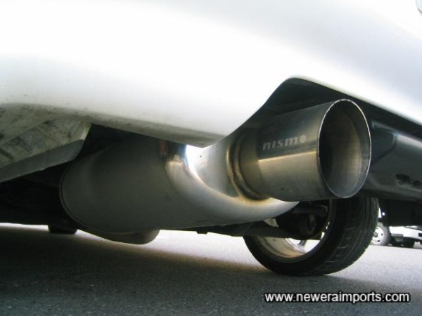 Nismo silencer - quiet and unrestrictive.