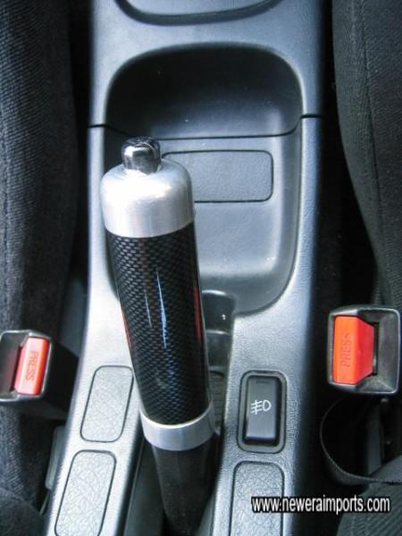 Carbon Handbrake handle.