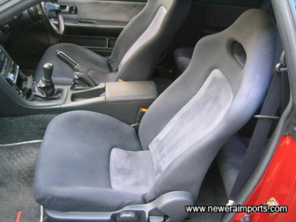 Passenger seat also immaculate.