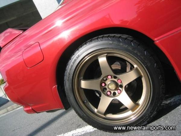 Tyres are nearly new Brdgestone Potenza RE-01's.