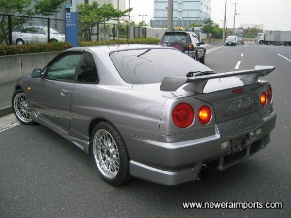 R34 GT-R style rear spoiler.