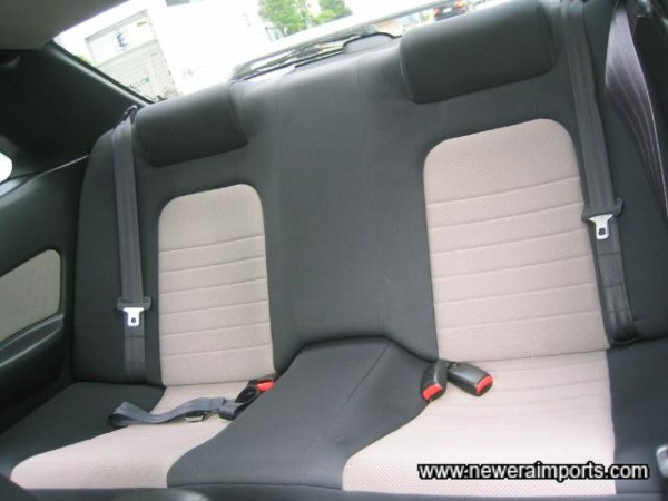 Rear seats seem to have not been used at all.