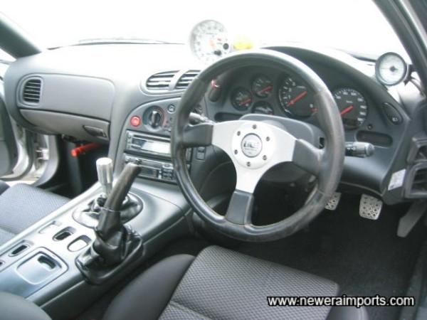 Steering wheel is upgraded.