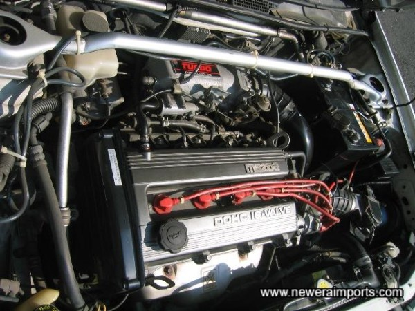 Note how clean the original engine bay is.