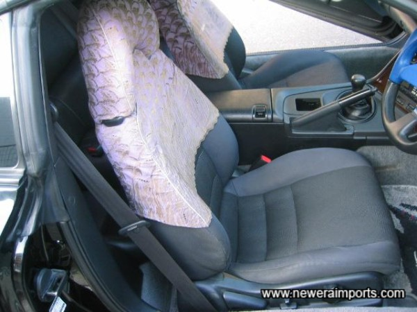 Note that leather conversion (With embossing on headrest) is available from £550 in UK.