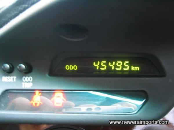Original odometer - before recalibration to show miles in UK.