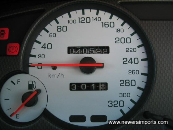 Original Odometer reading before recalibration to miles in UK