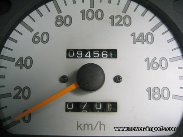 Original Odometer Reaing - Before recalibration to miles in UK