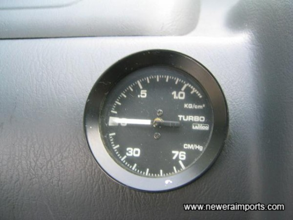 Lamco boost gauge located on passenger side.