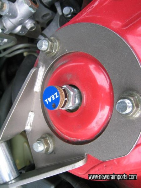 Each coilover's damping is easily adjustable from the top.