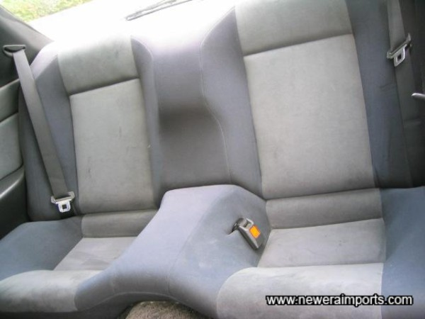 Rear seats in good unmarked condition.