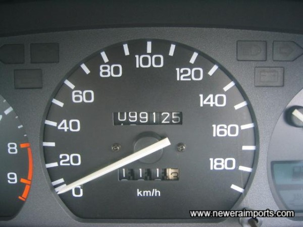 Mileage shown in KM (before conversions in UK.)