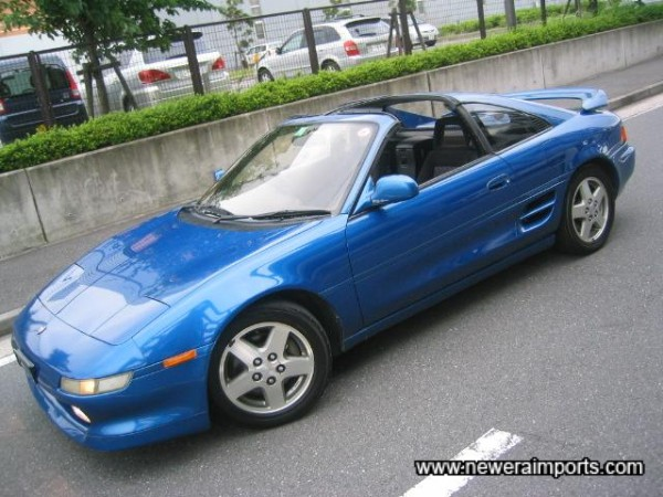 T-Bar Rev 3 MR2  turbos are very rare, especially in this colour!