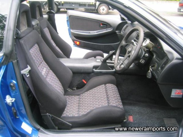 Seats are optional Recaros - factory fitted.